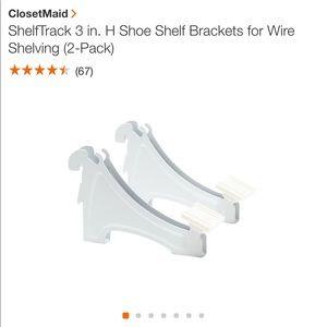 ClosetMaid Shoe Brackets 10 pieces